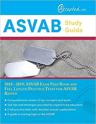 Asvab Study Guide 2018 2019 Asvab Exam Prep Book And Full Length