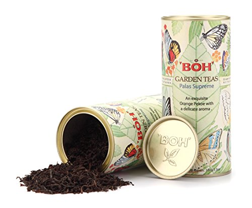 BOH Gift Set, Single Garden Palas Supreme Premium Black Tea Loose Leaf, 2 Packs Tin Canister, Sweet and Aromatic (7.06 (Matured Single)