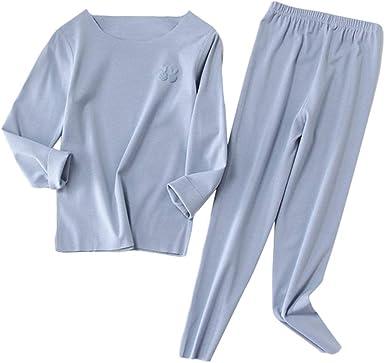 Set Pijamas De La Muchacha, Color Sólido Camisones De Algodón ...