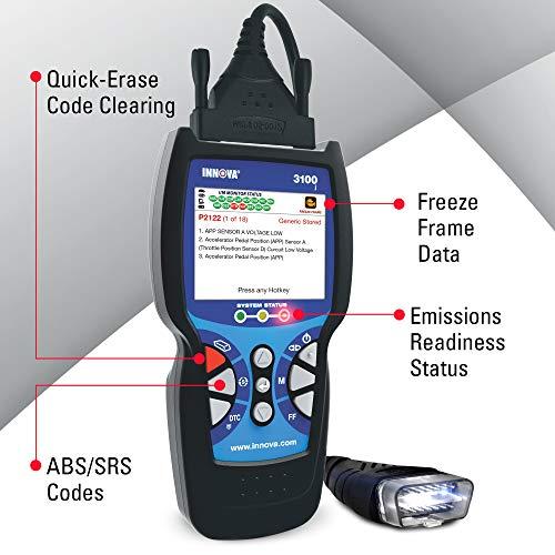 Innova 3100j CanOBD2 Diagnostic Tool & ABS Color Screen W/SRS & Oil Light Reset