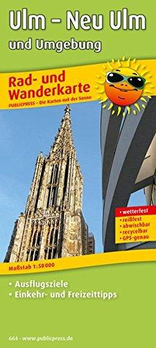 Ulm – Neu-Ulm und Umgebung: Rad- und Wanderkarte mit Ausflugszielen, Einkehr- & Freizeittipps, wetterfest, reißfest, abwischbar, GPS-genau. 1:50000 (Rad- und Wanderkarte / RuWK)