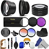 72MM Essential Lens and Filter Kit for for CANON (EF 135mm f/2L USM, EF 50mm f/1.2L USM, EF 85mm f/1.2L II USM), SIGMA LENSES (18-300mm f/3.5-6.3 DC Macro OS HSM (C) Contemporary, 18-35mm f/1.8 DC HSM Art) - Includes: Altura Photo 72MM 0.43x Wide Angle and 2.2x Telephoto High Definition Lenses + Macro Close-Up Lens Set + Filter Kit (UV, Polarizer, Fluorescent) + 2 Graduated Color Filters (Orange, Blue) + Tulip Flower Lens Hood + Pop-Up Flash Diffuser (Set of 3) + Deluxe Cleaning Kit