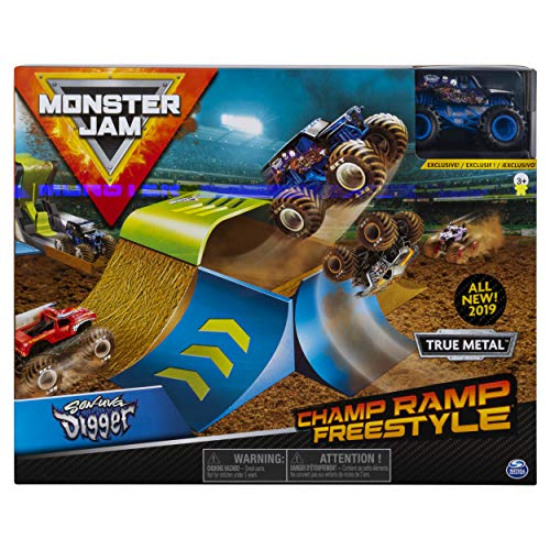 Monster Jam Official Champ Ramp Freestyle Playset Featuring Exclusive Son-uva Digger Monster Truck ()
