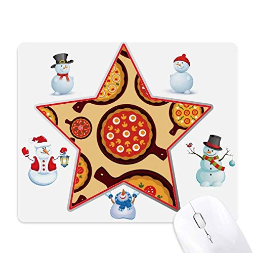 (Pizza Italy Tomato Foods Peppers Christmas Snowman Family Star Mouse Pad)