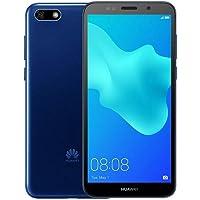 "Huawei Y5 2018 DRA-L23 Dual SIM FullView Display 5.45"" 4G LTE Quad Core 16GB 8MP Smartphone Factory Unlocked Android GO (Versión Internacional), Azul"