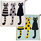THANKYOU Dish Towels Dish Cloth Dishcloth Kitchen Hand Towel, Dish Towel, Tea Towel, Bar Towel 100% Premium Cotton Gift Wrapping Novelty Extra Soft Highly Absorbent (Set of 2) 14.4'' x 13.8''