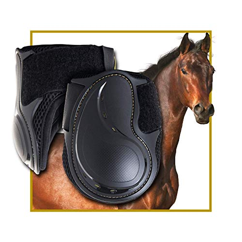Kavallerie Classic Fetlock Boots, Impact-Absorbing and Air-Perforated Material, Durable & Evenly Distributes Pressure, Fetlock Injury Protection, Non- Slip with Soft Lining Show Jumping Boots by Kavallerie (Image #8)