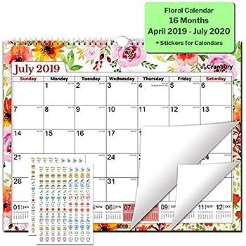 Wake Tech Academic Calendar.Amazon Com 2019 2020 Academic Wall Calendar Or Desk Calendar