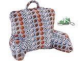 Top Trenz Inc Baseball-Basketball-Football-Soccer-Sport Backrest Pillow & Keychain Multi-pack