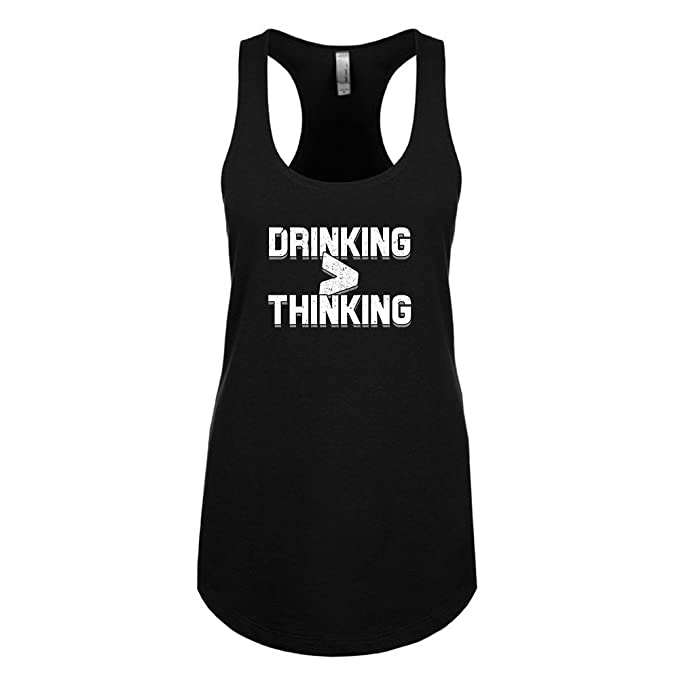 2a930dc7f Mad Over Shirts Drinking >Thinking Unisex Premium Racerback Tank top at Amazon  Men's Clothing store: