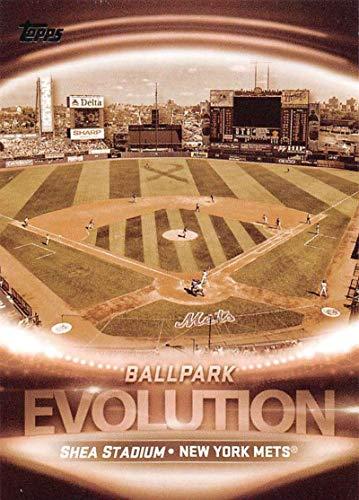 (2019 Topps Evolution of Baseball #EO-18 Shea Stadium/Citi Field New York Mets Official MLB Trading Card By Topps)