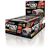 MuscleTech NitroTech Crunch Protein Bar, Cookies and Cream, 22 Grams Protein, 5 Grams of Fiber, 240 Calories, Low Carb, Gluten Free, 65g Bars, 12 Count