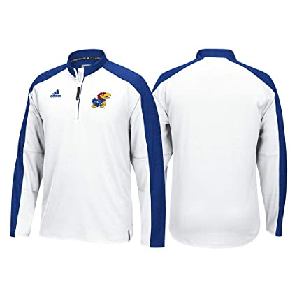 best website 00715 89838 Image Unavailable. Image not available for. Color  adidas Kansas Jayhawks  NCAA Men s White Sideline Climalite ...