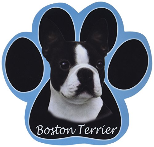 (Boston Terrier Dog Paw Non-Slip Mousepad)