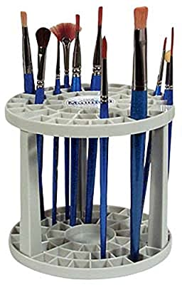 Loew-Cornell 390 Multi Bin Brush Organizer, 50 Hole by Loew Cornell