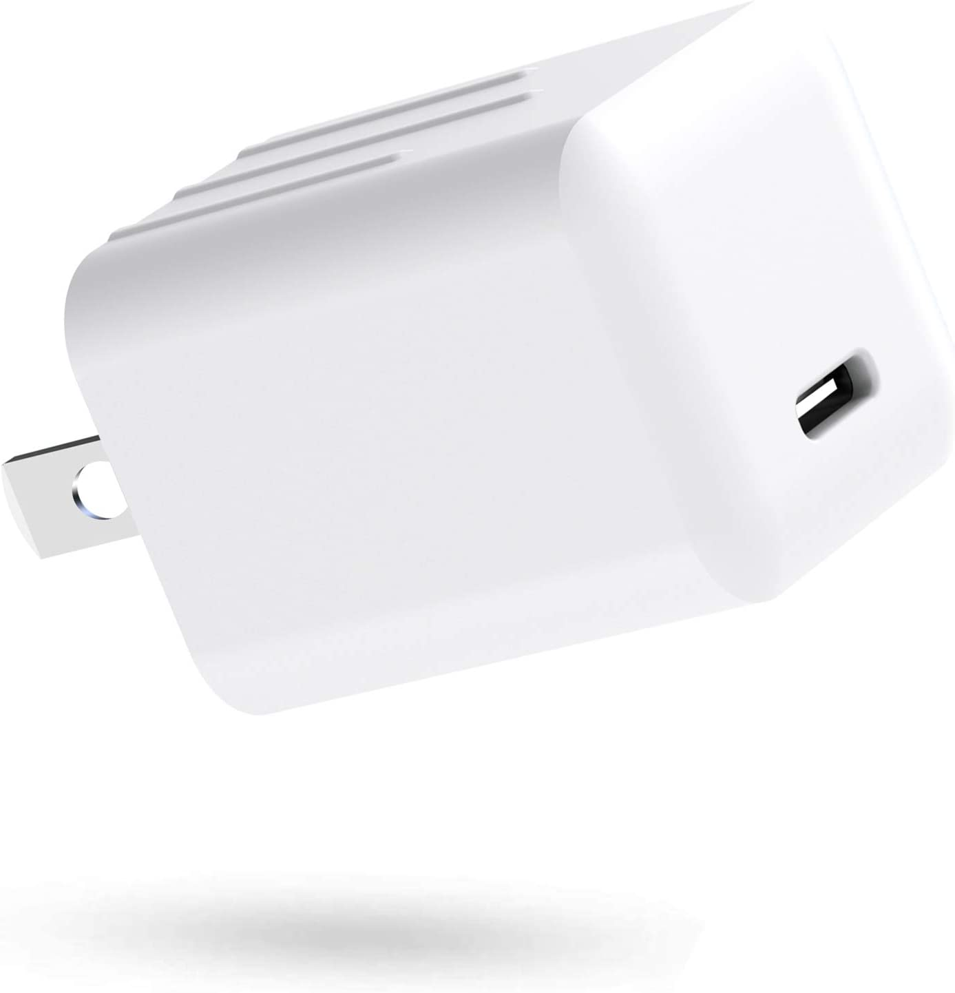 USB C Charger, 20W PD Wall Charger for iPhone 12 JAHMAI Ultra-Compact Type-C Power Adapter Fast Charging Plug Block Compatible with iPhone 12 Pro, 12Pro Max, Mini, 11, XR, XS, X, 8 Plus, iPad -White