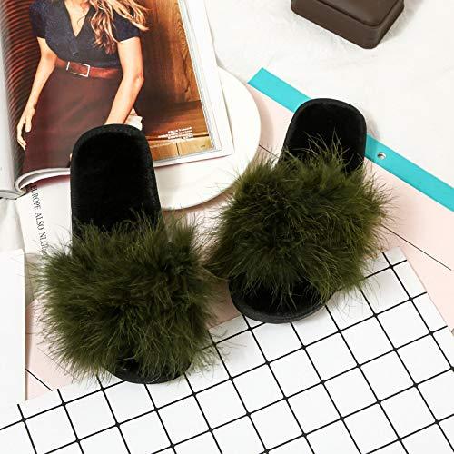 Donna E grey 37 Casa Autunno Peluche Di Jia Da 40 Mese Scarpe Pantofole Green Nuove 36 Inverno 41 Hong Moda wRxqz0fF