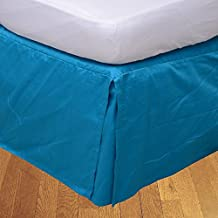 Relaxare Twin 500TC 100% Egyptian Cotton Turquoise Blue Solid 1PCs Box Pleated Bedskirt Solid (Drop Length: 15 inches) - Ultra Soft Breathable Premium Fabric