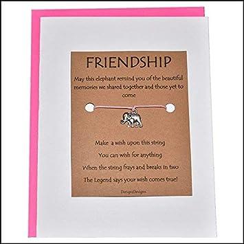 Wish Bracelet I/'m Thinking Of You Costume Jewellery Friend Gift Wish Card Wish String Butterfly Bracelet Charm Bracelet Cord Bracelet