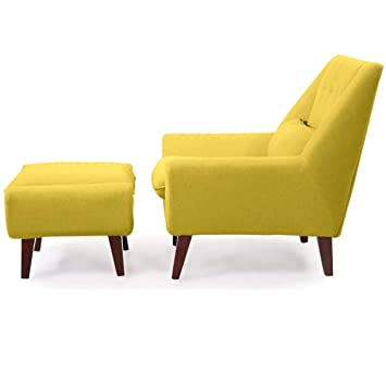 Amazing Amazon Com Mid Century Modern Lounge Chair With Ottoman Machost Co Dining Chair Design Ideas Machostcouk