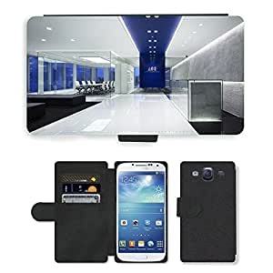 Hot Style Cell Phone Card Slot PU Leather Wallet Case // M00169911 Building Interior Inside Modern // Samsung Galaxy S3 S III SIII i9300