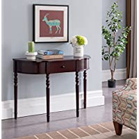 Kings Brand Furniture - Wood Entryway Console Sofa Table with Drawer, Dark Cherry