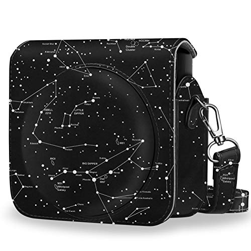 (Fintie Protective Case Compatible with Fujifilm Instax Square SQ6 Instant Film Camera - Premium PU Leather Bag Cover with Removable Adjustable Strap, Constellation)