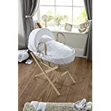 Clair de Lune Secret Garden Palm Moses Basket