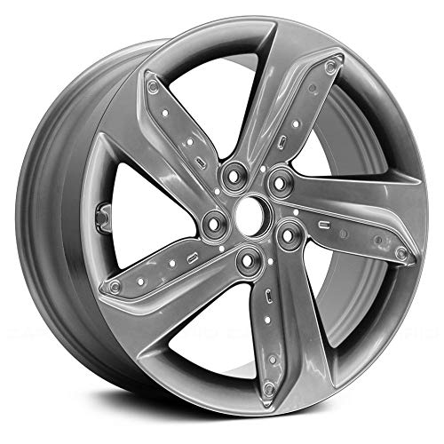(Replacement 5 Spokes Medium Smoked Hyper Silver Full Face Factory Alloy Wheel Fits Hyundai Veloster)