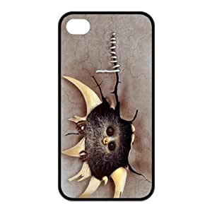 Newly Fashion Brand New White and Black Lovely Owl Plastic Cases for iPhone4 iPhone4S