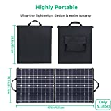 100 Watts 12 Volts Portable Solar Panel Kit Charger Foldable Flexible Monocrystalline Solar Charger with MC4 Connector and Dual-port(USB 5V + DC 18V) for Outdoors, Camping, Solar Generator, RV, Boat