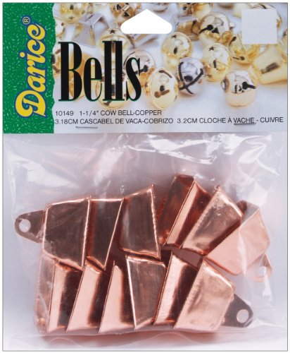 36n Copper Color Cow Bells Crafts Wreaths Christmas Bell