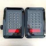 CLKJDZ 2x LED Rear Tail Light Brake Turn Signal Reverse Lamp For 07-15 Jeep Wrangler JK