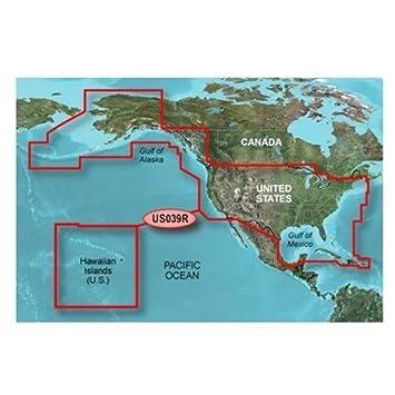 Amazoncom Garmin Bluechart G HXUSR Us G Entire Us - Garmin us canada maps