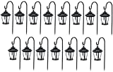 Four Seasons TV29960BK Black, Solar Candle Pathway Lantern Lights - Quantity 15