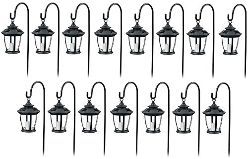 Four Seasons TV29960BK Black, Solar Candle Pathway Lantern Lights - Quantity 15 by Four Seasons Courtyard