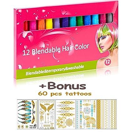 Phogary temporal color de pelo y conjunto de tatuajes para niñas ...