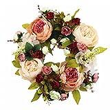 SIncek Spring Flower Wreath Green/Red/Pink