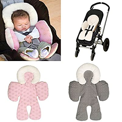 Infant Head Body Support Pillow Newborn Baby Car Seat Stroller Cushion Pad Liner Mat (Pink)