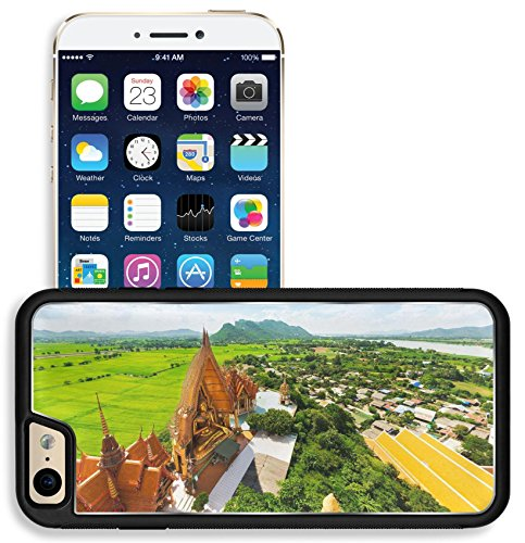 Liili Apple iPhone 6 iPhone 6S Aluminum Backplate Bumper Snap iphone6/6s Case iPhone6 IMAGE ID 32314117 A view from the top of the pagoda golden buddha statue with rice fields and mountain Wat Tham Su