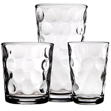 Galaxy Glassware Set Set of 18 - 6 7 OZ 6 13 OZ & 6 17 OZ