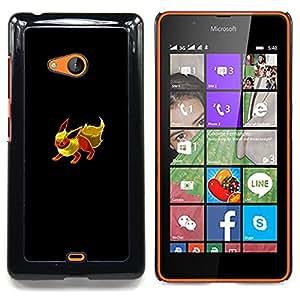 """Qstar Arte & diseño plástico duro Fundas Cover Cubre Hard Case Cover para Nokia Lumia 540 (Eevee P0kemon"""")"""