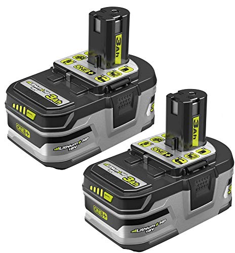 ((2) Ryobi One+ 18v Lithium Plus HP Batteries 3Ah Li-Ion P191)