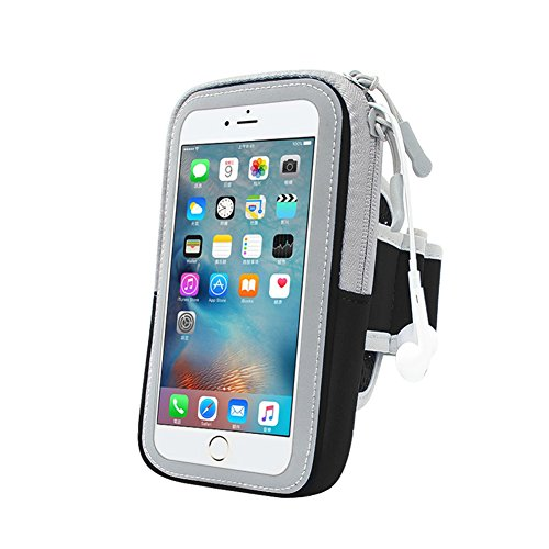 G3 Climbing Wires - ComSim Multifunctional Water Resistant & Sweat Free Sports Armband Casual Arm Package Bag Cell Phone Bag Key Holder For IPhone Sumsung LG -Ideal For Running and Other Exercise - Adjustable,Black