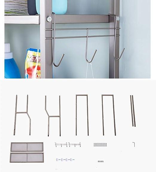 Estante de la lavadora Autoportante lavado bastidor de la máquina, de 2 capas lavadora bastidor, tambor de lavado balcón máquina rack, montada en el piso baño estante de almacenamiento, plataforma for: Amazon.es: