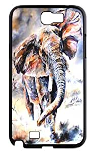 Samsung Galaxy Note2 N7100 Cover - Elephant art Back Cases