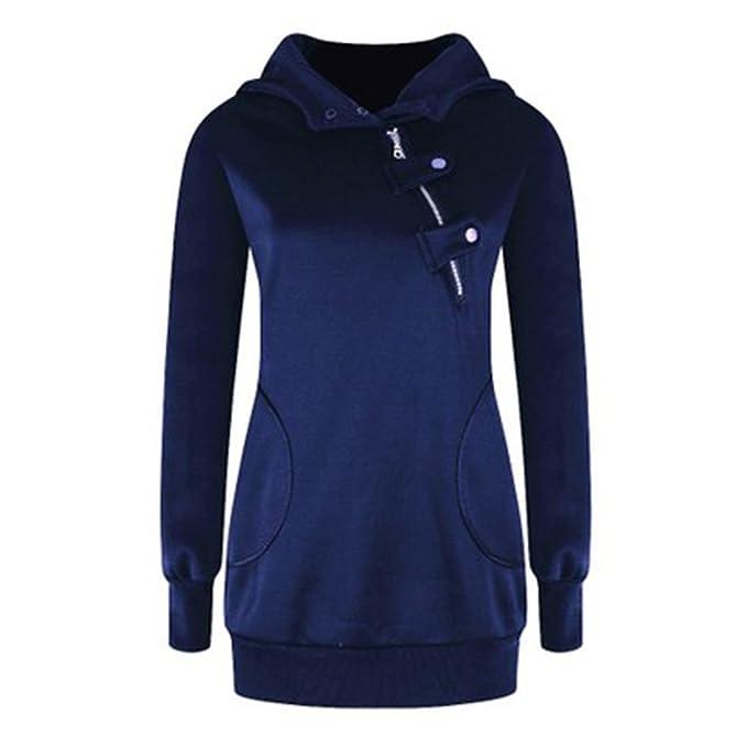absolut stilvoll laest technology neuer Lebensstil Hibote Damen Sweatshirts Hoodie Slim Fit Pullover Warm Mantel ...