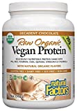 Natural Factors - Raw Organic Vegan Protein, Gluten Free, Dairy Free & Non-GMO, Decadent Chocolate, 30 Servings (34 oz)