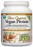 Natural Factors - Raw Organic Vegan Protein, Gluten Free, Dairy Free & Non-GMO, Decadent Chocolate, 30 Servings (34 oz)