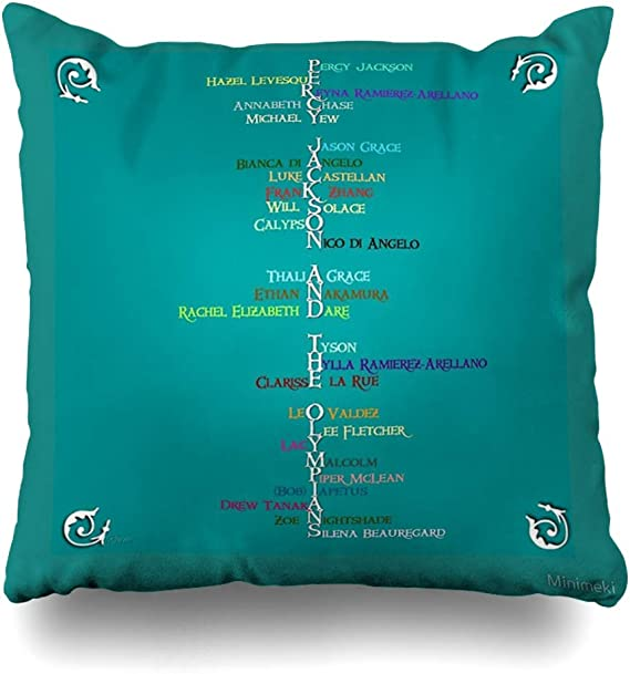 Throw Pillow Cover Square Percy Jackson Word Art Decorative Pillow Case Home Decor Pillowcase 18x18 Inches Amazon Co Uk Kitchen Home